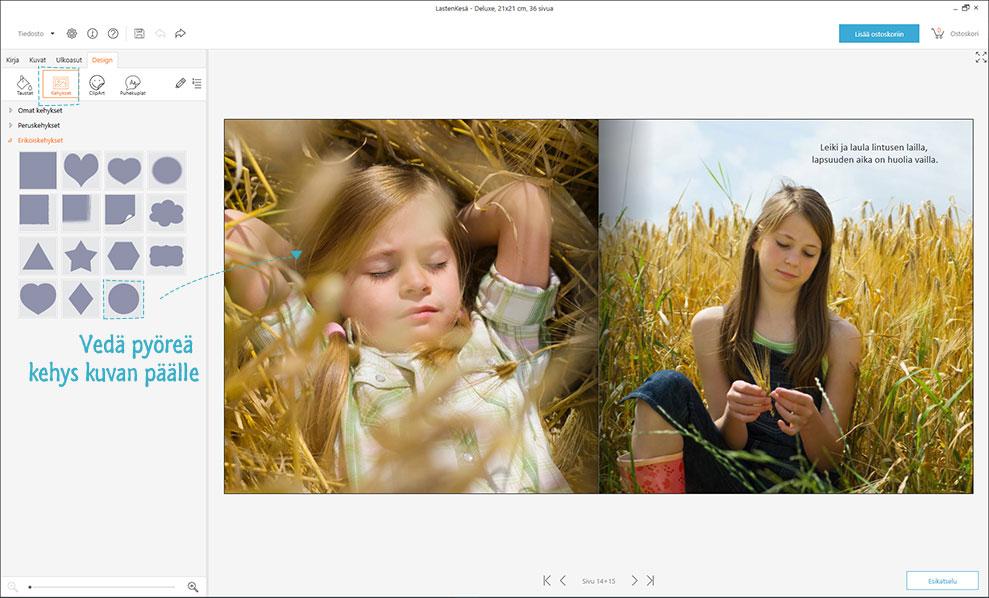 Näin teet kuvakirjoja Designer-ohjelmalla
