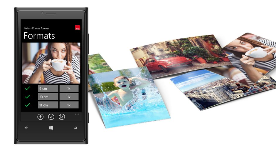 Ordering digital photos from a Windows phone